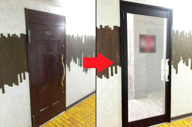 愛知県名古屋市「店舗ドアの印象が素敵に変わり、良い感じです!」アルミガラスドアフォーム工事会社【株式会社サッシ.NET】